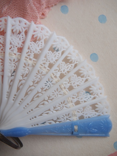 画像2: 【Sale!】ヴィンテージ ドールファン(ブルー×白)