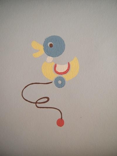 画像4: ヴィンテージ壁紙(ベビー)