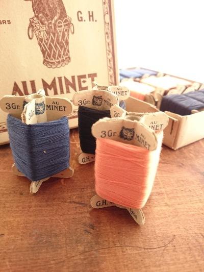 画像1: 【Sale!】フランス アンティーク 猫の糸セット