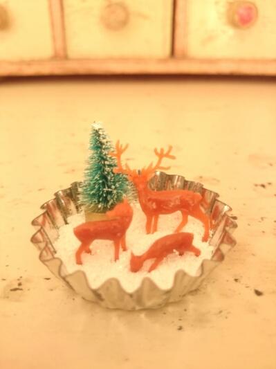 画像2: ミニチュアクリスマスのセット(A)