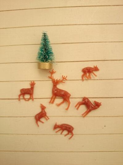 画像1: ミニチュアクリスマスのセット(A)