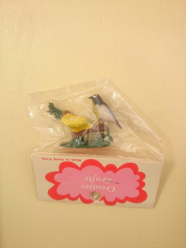 画像2: ミニチュア 鳥と巣