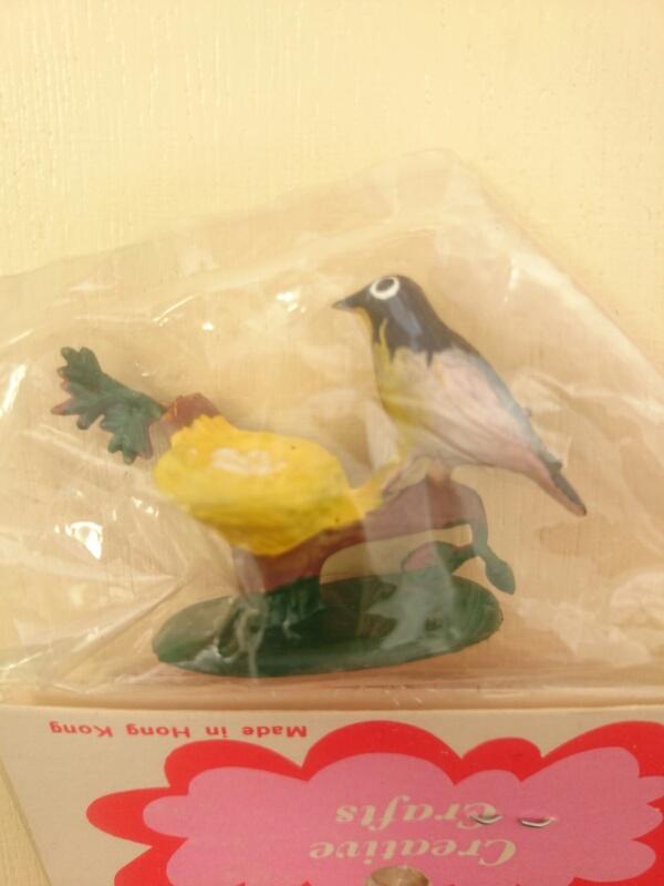 画像1: ミニチュア 鳥と巣