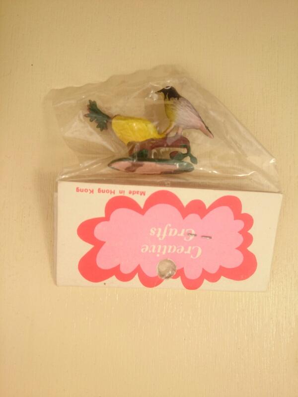 画像3: ミニチュア 鳥と巣