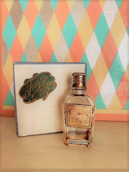 画像1: ヴィンテージミニ香水瓶と紙箱セット