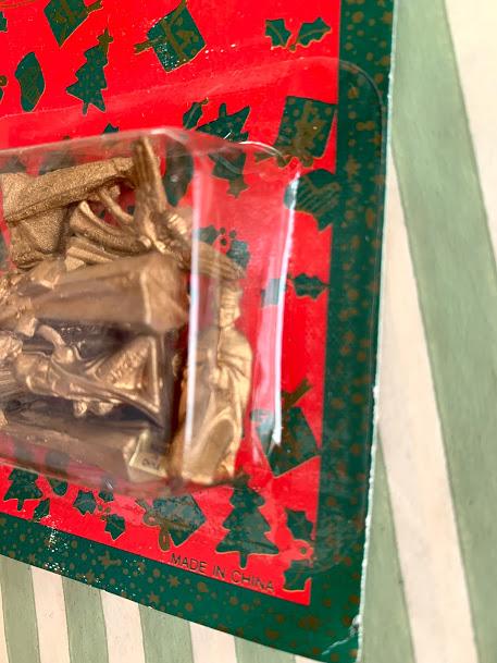 画像2: ゴールドのミニクリスマスフィギュアセット