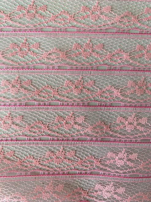 画像1: ピンクの幅広レース50cm